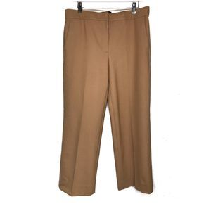 J Crew Tall Patio Pant Two Way Stretch Wool Camel